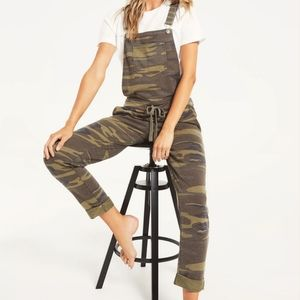 Z Supply camouflage knit overalls